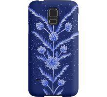 Blue flowers in Chinese vase Samsung Galaxy Case/Skin