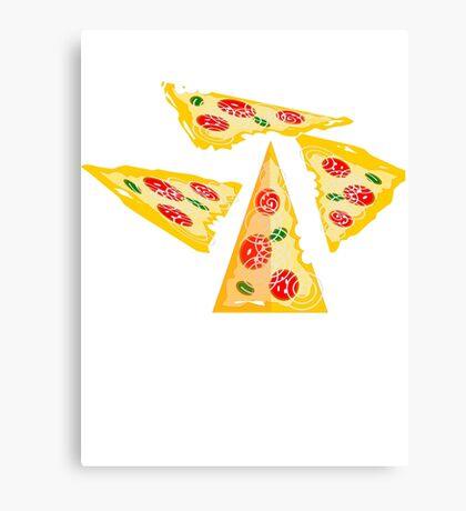 Pizza Joke Too Cheesy Canvas Print