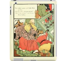 The Mother Hubbard Picture Book by Walter Crane - Plate 41 - Thee Bears - Who Slept In My Bed iPad Case/Skin
