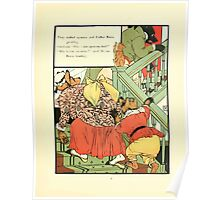 The Mother Hubbard Picture Book by Walter Crane - Plate 41 - Thee Bears - Who Slept In My Bed Poster