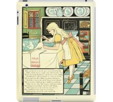The Mother Hubbard Picture Book by Walter Crane - Plate 33 - Three Bears - No One Home iPad Case/Skin