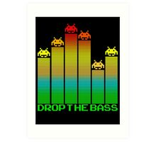 Space Invaders - Drop The Bass Art Print