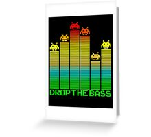 Space Invaders - Drop The Bass Greeting Card