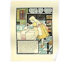 The Mother Hubbard Picture Book by Walter Crane - Plate 33 - Three Bears - No One Home Poster