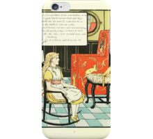 The Mother Hubbard Picture Book by Walter Crane - Plate 36 - Tree Bears - Three Chairs iPhone Case/Skin