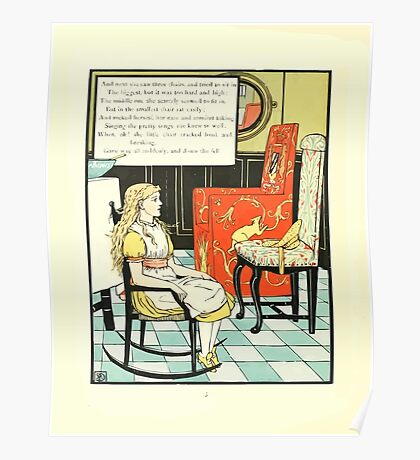 The Mother Hubbard Picture Book by Walter Crane - Plate 36 - Tree Bears - Three Chairs Poster