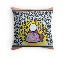 Happy Buddah Throw Pillow