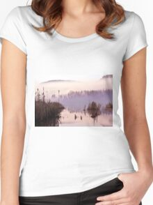 Misty Morning on the Lake Women's Fitted Scoop T-Shirt