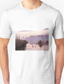 Misty Morning on the Lake Unisex T-Shirt