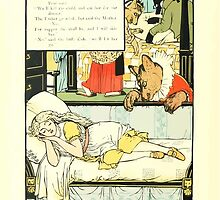 The Mother Hubbard Picture Book by Walter Crane - Plate 44 - Three Bears - She's In My Bed by wetdryvac