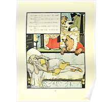 The Mother Hubbard Picture Book by Walter Crane - Plate 44 - Three Bears - She's In My Bed Poster