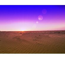 Butterscotch coated sunset Photographic Print