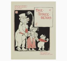 The Mother Hubbard Picture Book by Walter Crane - Plate 29 - Re-Issue Three Bears Kids Tee