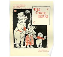 The Mother Hubbard Picture Book by Walter Crane - Plate 29 - Re-Issue Three Bears Poster