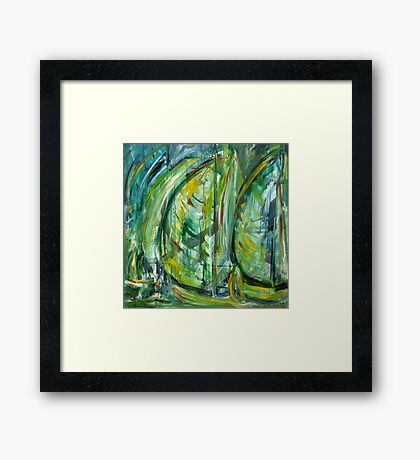 Sailing in Harmony Framed Print