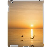 Wings at Sunrise - Toronto Skyline With Flying Geese iPad Case/Skin