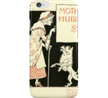 The Mother Hubbard Picture Book by Walter Crane - Plate 09 - Re-issue Picture iPhone Case/Skin