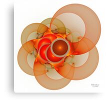'Light Flame Abstract 135' Canvas Print