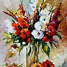 Gladiolus — Buy Now Link - www.etsy.com/listing/126996077 by Leonid  Afremov