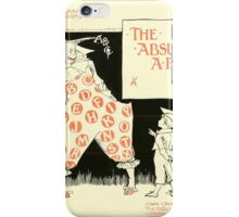The Mother Hubbard Picture Book by Walter Crane - Plate 49 - The Absurd ABC iPhone Case/Skin