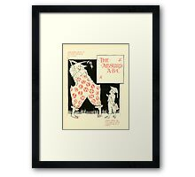 The Mother Hubbard Picture Book by Walter Crane - Plate 49 - The Absurd ABC Framed Print