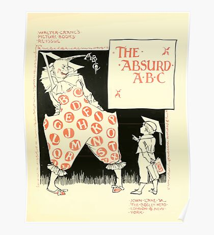 The Mother Hubbard Picture Book by Walter Crane - Plate 49 - The Absurd ABC Poster