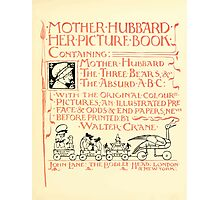 The Mother Hubbard Picture Book by Walter Crane - Plate 05 - Her Picture Book and Containing Photographic Print