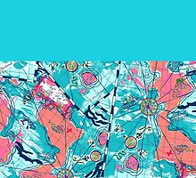 Lilly Pulitzer Maps by katherineg23