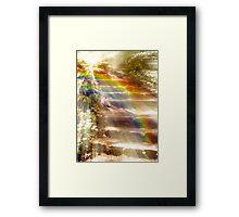 Going Into The Light! Framed Print