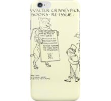 The Mother Hubbard Picture Book by Walter Crane - Plate 28 - Re-Issue Three Bears iPhone Case/Skin