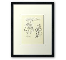 The Mother Hubbard Picture Book by Walter Crane - Plate 28 - Re-Issue Three Bears Framed Print