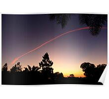 Sunset Contrail 2 Poster