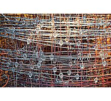 Rusty wire. Photographic Print