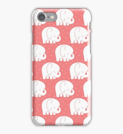 mod baby elephants coral iPhone Case/Skin