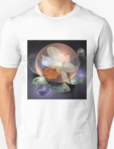 Daffodil in a water bubble Unisex T-Shirt