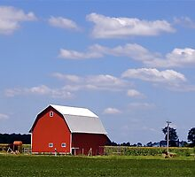 red barn by Jennifer Ferry