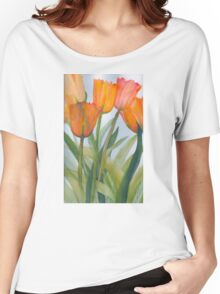 Transparent Citrus Tulips  Women's Relaxed Fit T-Shirt