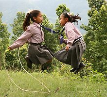 Skipping in the Himalayas by Niki Taxidis