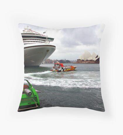 Sydney's Circular Quay Throw Pillow