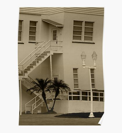 Florida Style House ~ Palm Trees Poster