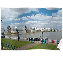 The Thames Barrier: London UK Poster