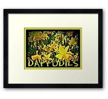 DAFFODILS ARTWORK Framed Print