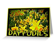 DAFFODILS ARTWORK Greeting Card