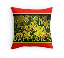 DAFFODILS ARTWORK Throw Pillow