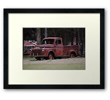 Old Rusty Truck  Framed Print