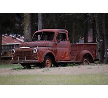 Old Rusty Truck  Photographic Print