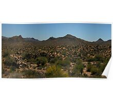 Superstition Mountains Panorama  Poster