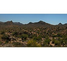 Superstition Mountains Panorama  Photographic Print
