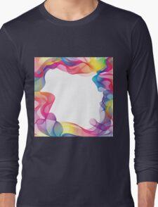 Rainbow Ribbons Background Long Sleeve T-Shirt