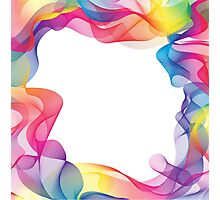Rainbow Ribbons Background Photographic Print